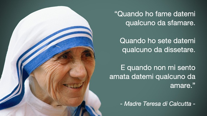 Come essere felici | Citazione di Madre Teresa di Calcutta